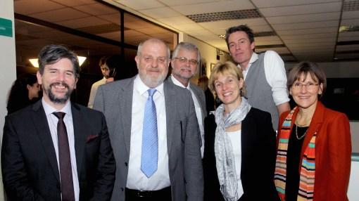 Jochen Fritz, Ricardo Gevert, Kurt Hellemann, Angelika Fraitzl, Alexander Lemke y Kerstin Huber