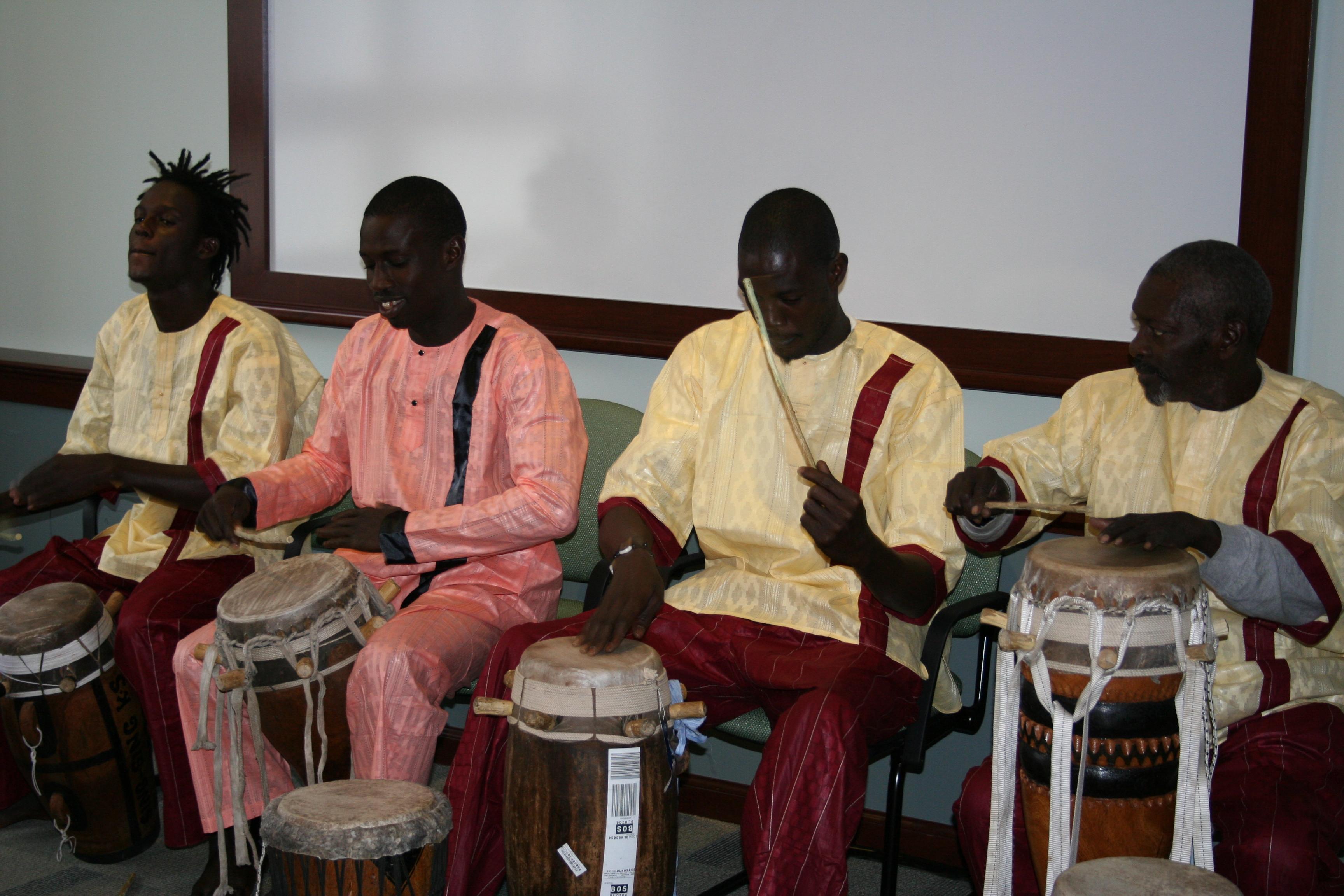 Presentation of sabar technique at Suffolk