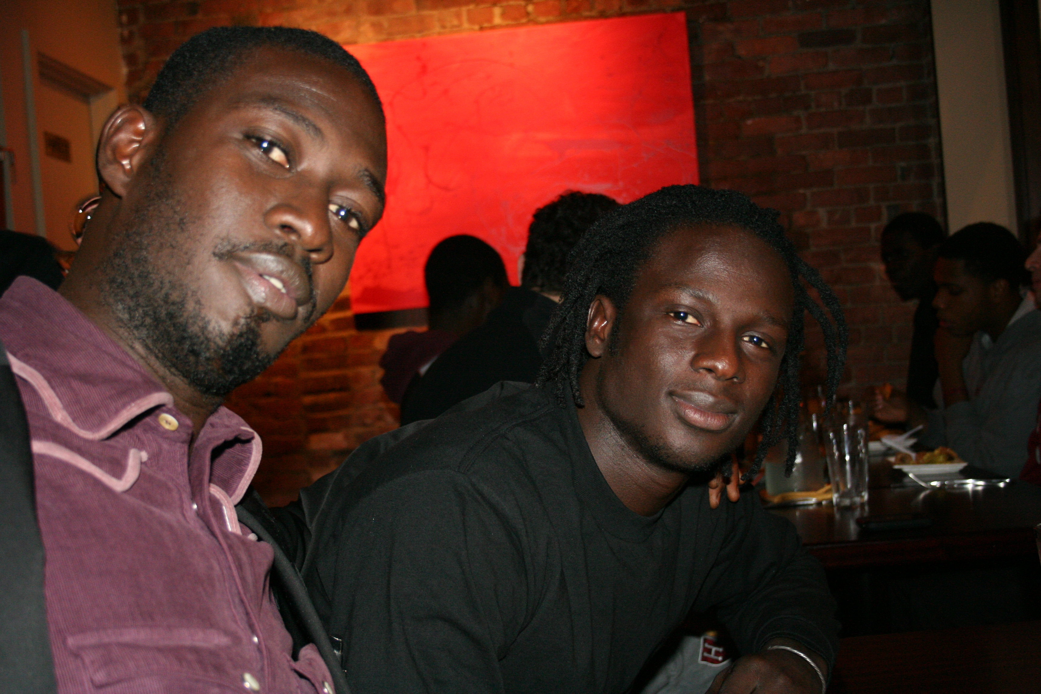 Moustapha Faye and Malick Ngom at the Teranga.
