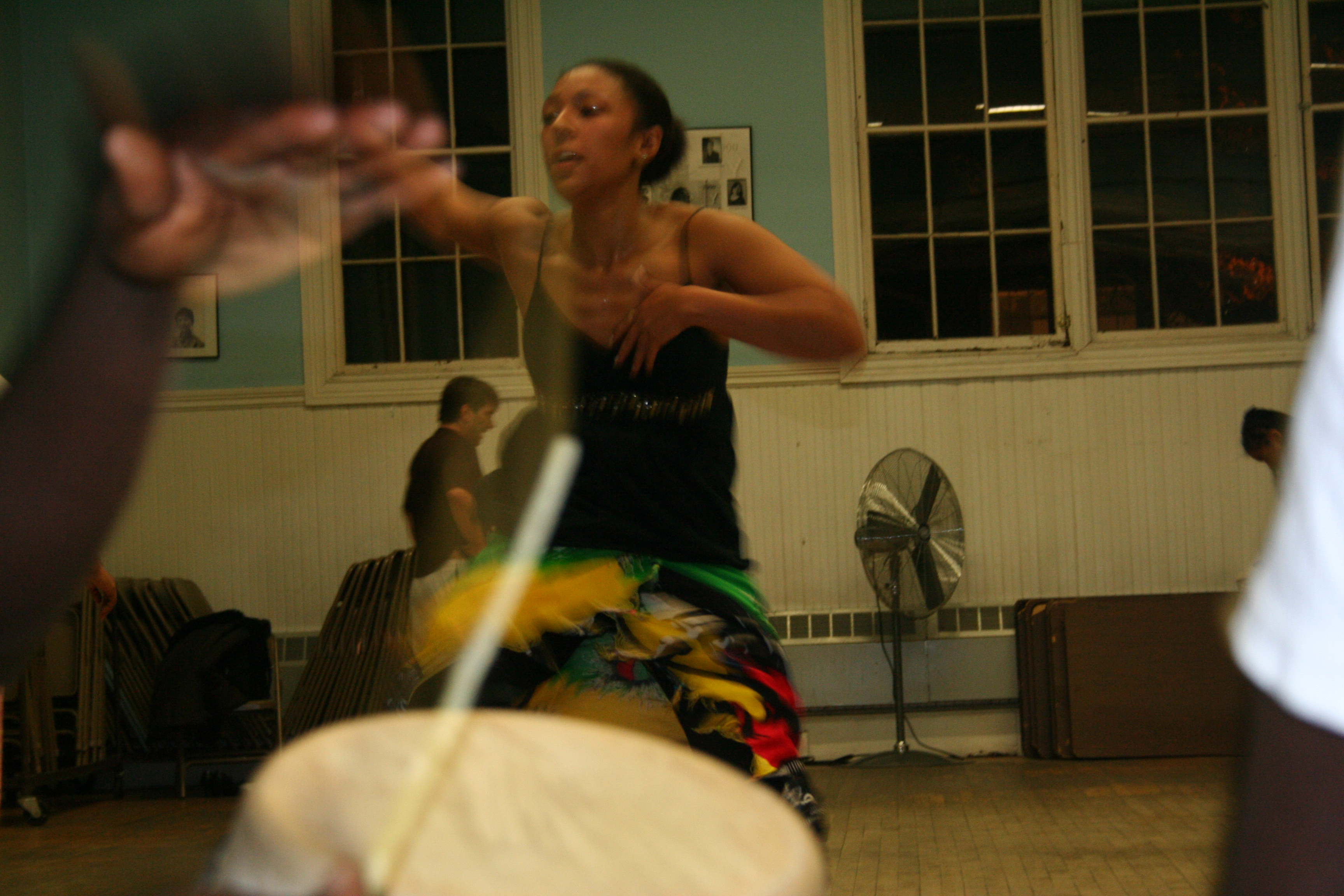 Dancer in Pa Seck's dance class.