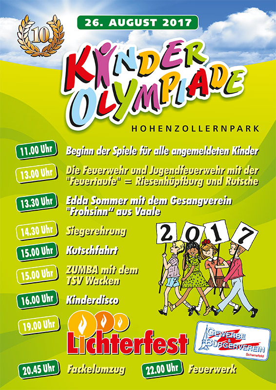 Programmplakat Kinderolympiade