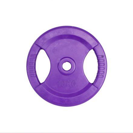 Body pump rubberen schijf 30mm 10 kg - paars