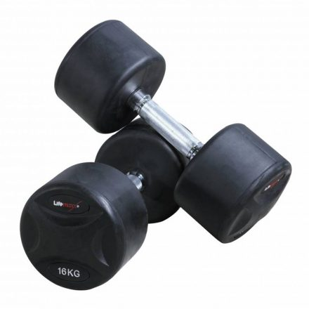 Vaste rubberen dumbbellset: 52 t/m 60kg (5 sets)