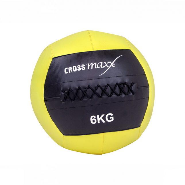 Crossmaxx® wall ball 6 kg - geel