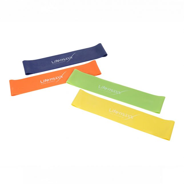 Mini resistance band 10 stuks - blauw level 4