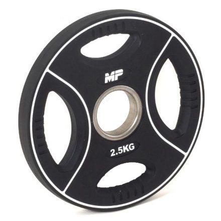 Muscle Power Ol. polyurethaan 4 grip halterschijf 2