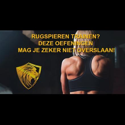 Rugspieren trainen? Deze oefeningen mag je zeker niet overslaan!