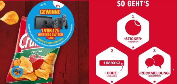 Crunchips Gewinnspiel Screenshot