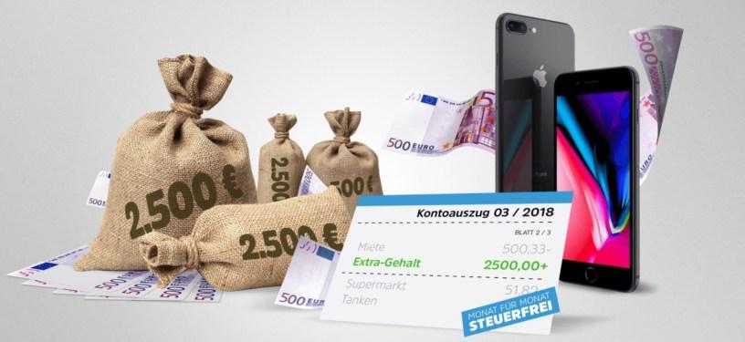 Extra-Gehalt Teasergrafik der Preise von Gewinnarena