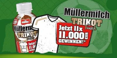 Müllermilch Trikot-Tausch Logo