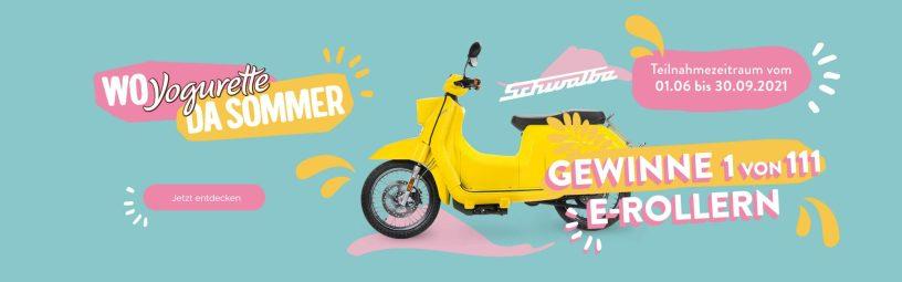 Yogurette E-Roller Gewinnspiel 2021