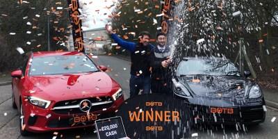 BOTB Gewinner Mercedes und Porsche Auto