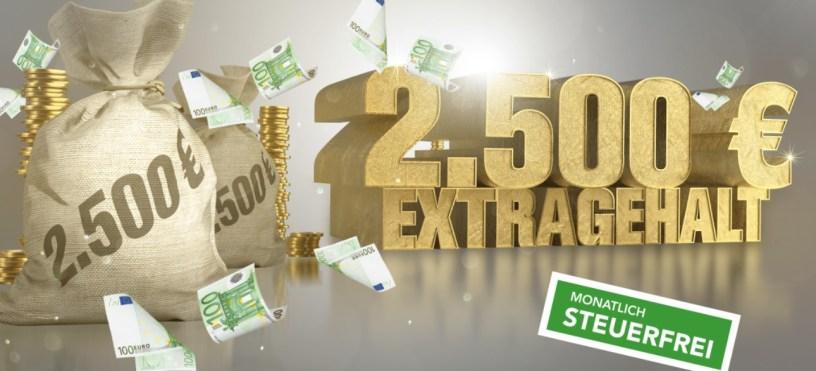 Gewinnarena 2.500€ Extra-Gehalt Logo 2019