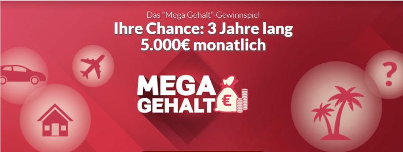 RTL Mega Gehalt Gewinnspiel bei Winario