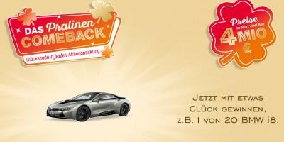 Ferrero Pralinencomeback Gewinnspiel