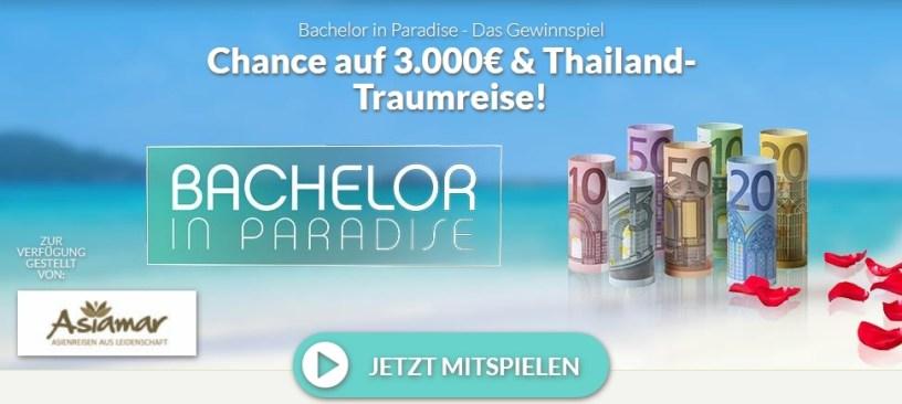 Bachelor in Paradise Gewinnspiel Winario Screenshot