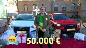 Weihnachtsgewinnspiel 50000 Euro Frühstücksfernsehen