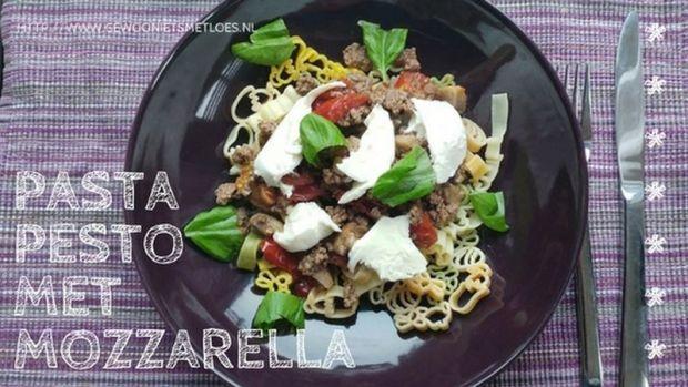 pasta pesto met mozzarella