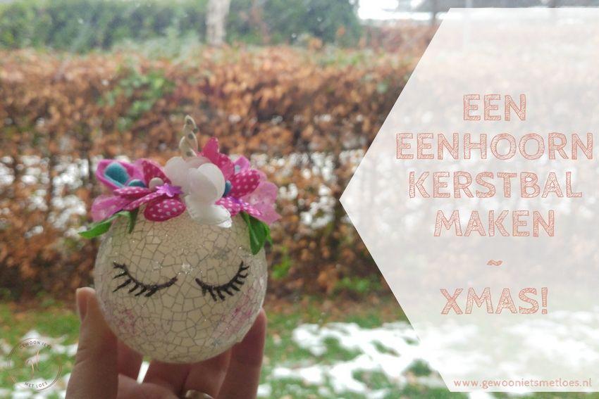 [:nl]Een eenhoorn kerstbal maken   XMAS[:]