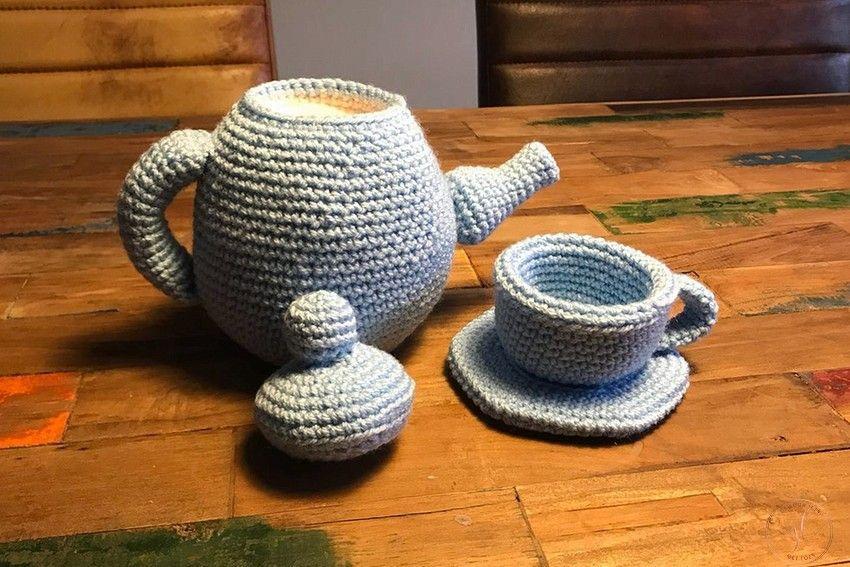 een theepot haken met kop en schotel (3)-