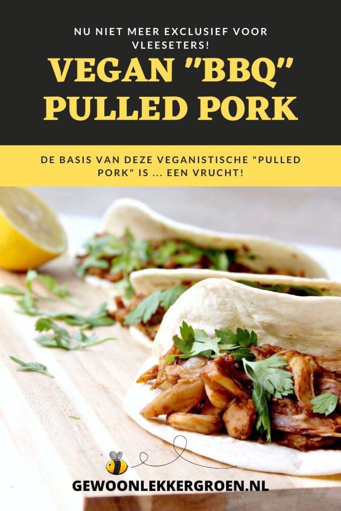 vegan pulled pork - vegan pulled pork van jackfruit - vegan bbq pulled pork - pulled jackfruit recept