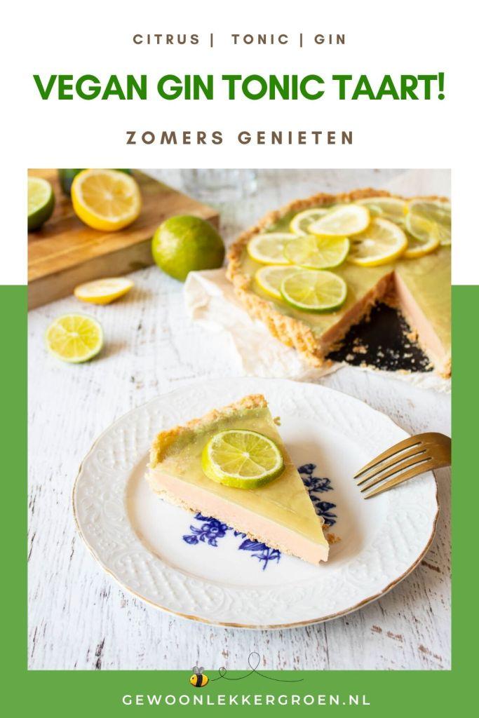 vegan gin tonic taart