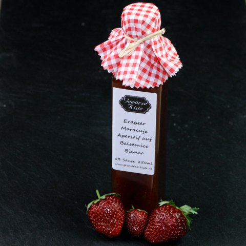 Erdbeer Maracuja Aperitif Essig