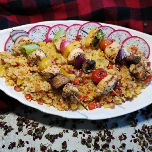 Exotisches Chicken Sis Kebab Menü