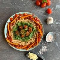 Vollkorn Spaghetti mit Fleischbällchen