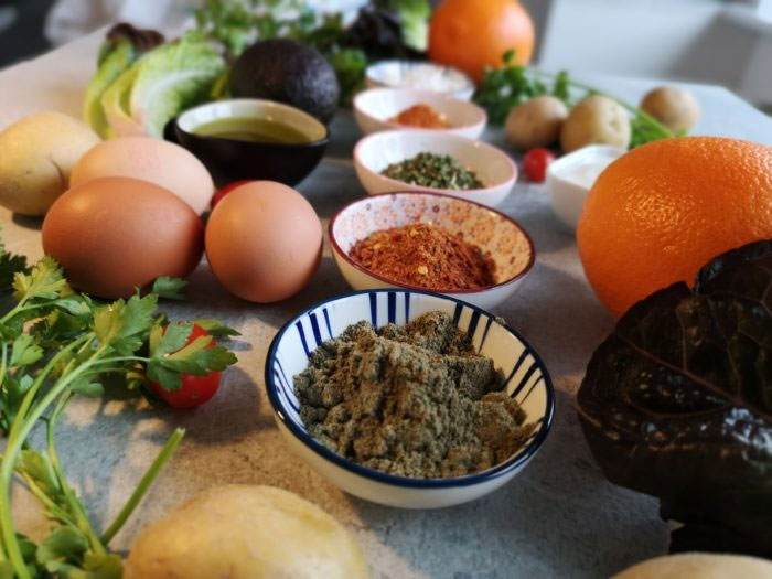 Zutaten für das gebratene Gemüse