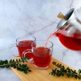 Eine Kanne Tee und zwei Tassen Tee