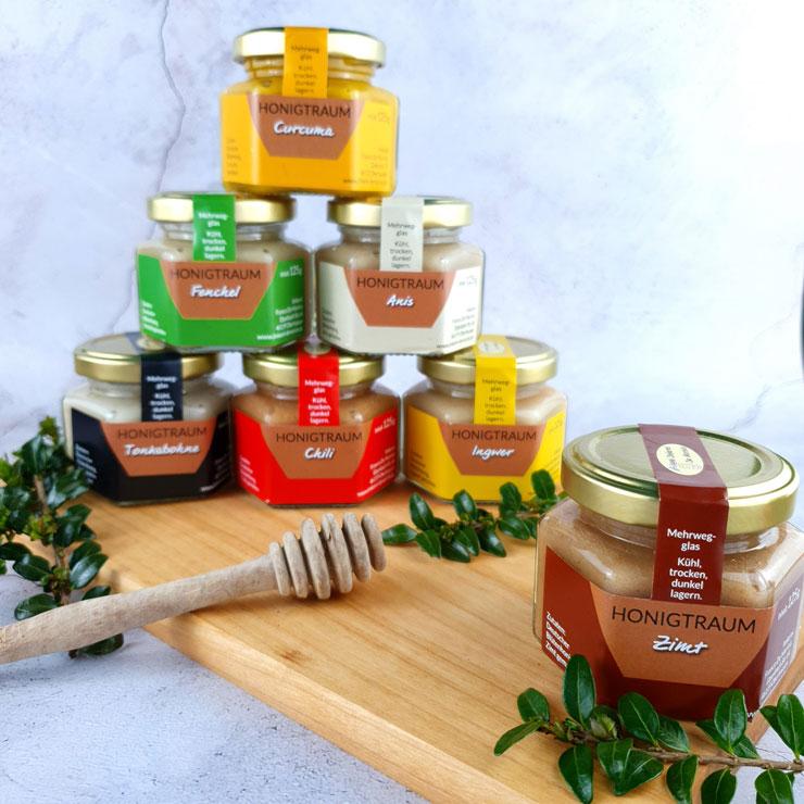 Honig-Traum-Zimt-Auswahl