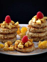 Reispuffer mit Zimtäpfeln vegan Rezept