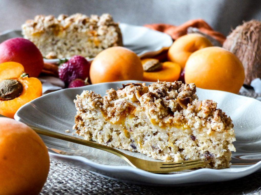 veganer Aprikosen-Streusel-Kuchen