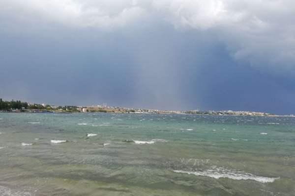 Marmara Ereğlisi fırtınalı deniz