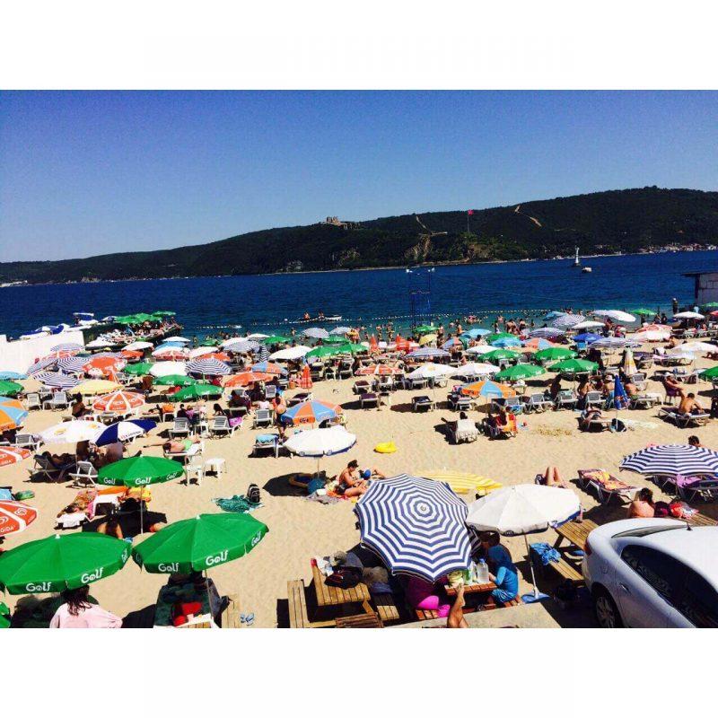 Sarıyer Altınkum Kadınlar Plajı dolu hali