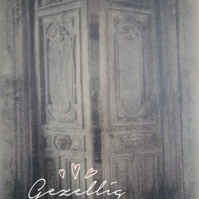Paneel kalkverf: Oude deur