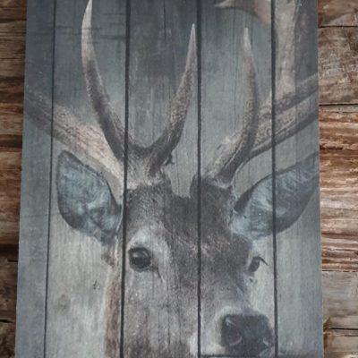 Deco bord: Hert 15x30cm