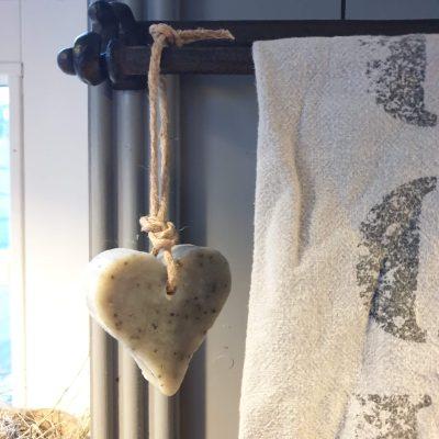Zeepje aan touw: Hart