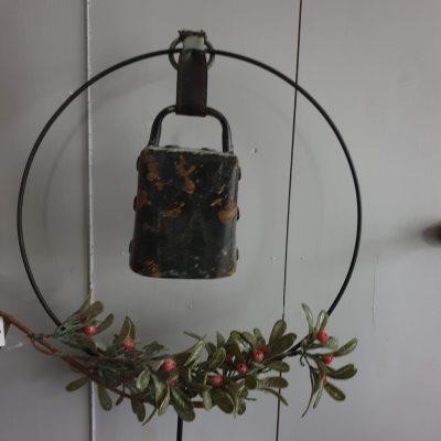 Oude bel zwart met lus