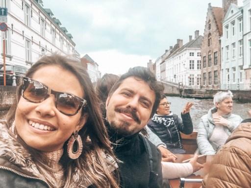 Brugge'da Gezilecek Yerler -  Kanal Turu yaparken