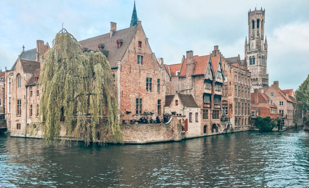 Rozenhoedkaai Bruj Brugge Brugges Belçika Belgium