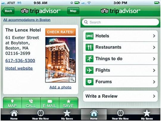 Yurt Dışı İçin En İyi Seyahat Uygulamaları -Tripadvisor uygulama görseli