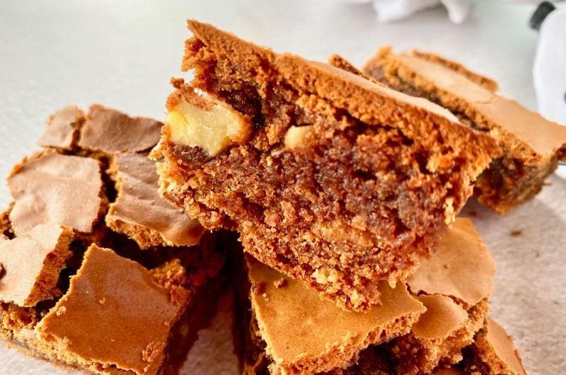 Authentiek brownies recept met walnoten