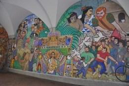 Üniversite civarında duvar boyama