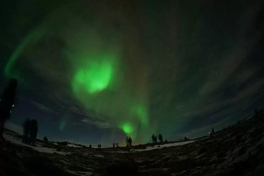 İzlanda'da kuzey ışıkları