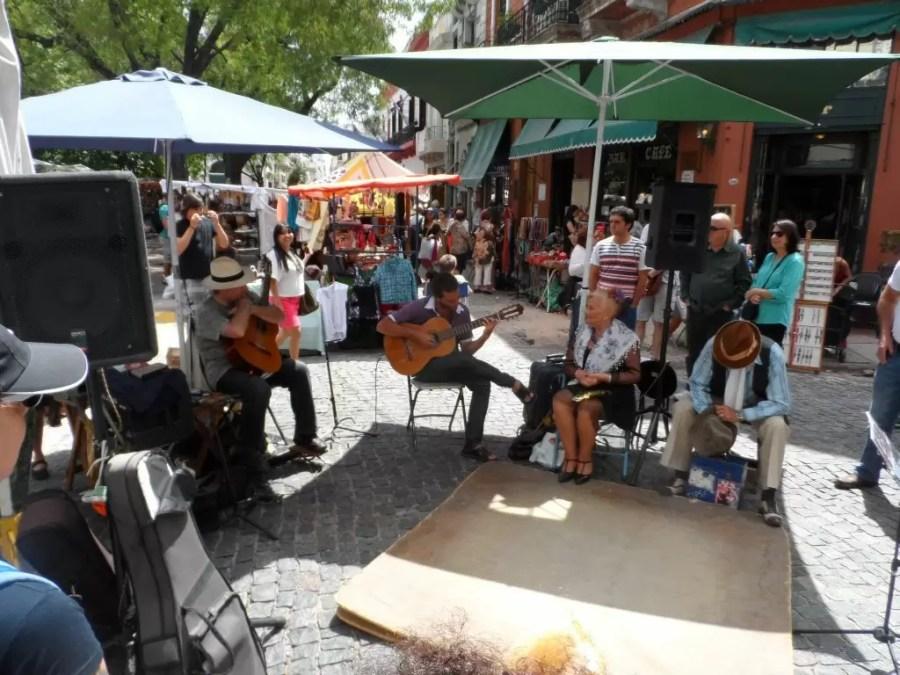 San Telmo Pazarinda canlı müzik