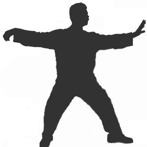 Qigong silhouette