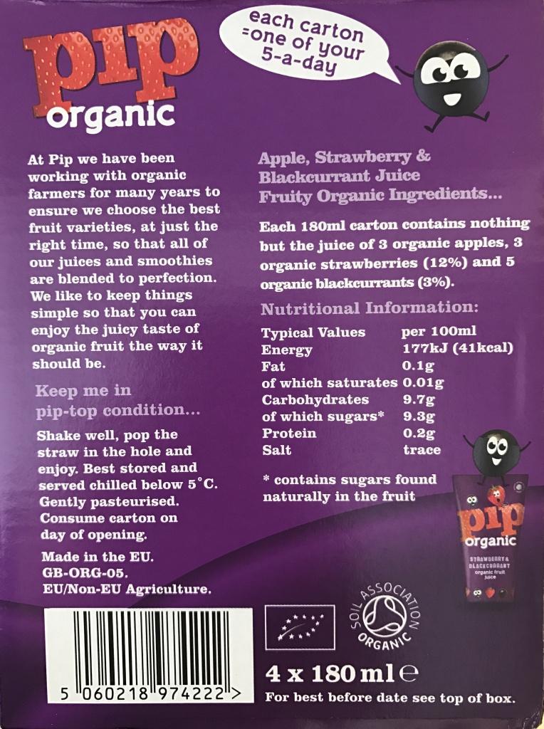 Pip paars etiket