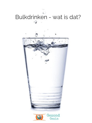 Foto water, artikel over bulkdrinken